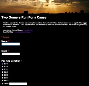 Click to donate toward Run for a Cause!